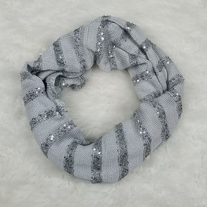 NY&Co Sequin Stripe Infinity scarf